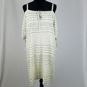 Velvet by Graham Spencer L cold shoulder dress